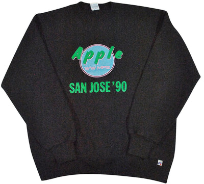 Vintage Apple Computers San Jose '90 Sweatshirt Size Large