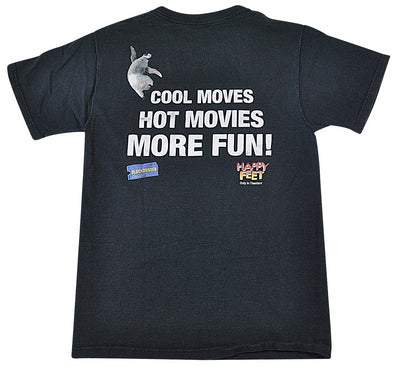 Vintage Happy Feet 2006 Blockbuster Movie Shirt Size Small