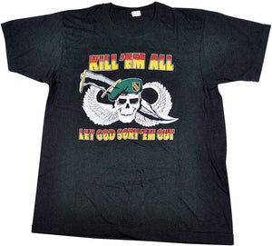 Vintage Screen Stars Kill 'Em All Let God Sort 'Em Out Shirt Size Medium
