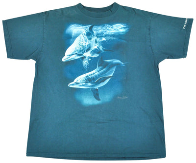 Vintage Dolphins Ocean Shirt Size Large
