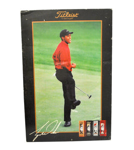 Vintage Titleist Tiger Woods Masters Foam Board Picture