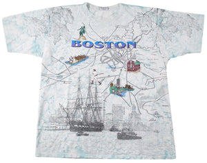 Vintage Boston 1994 Map Shirt Size X-Large