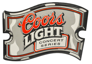 Vintage Coors Light Concert Series Metal Sign