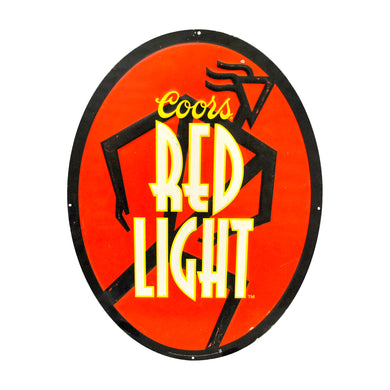 Vintage Coors Red Light 1995 Metal Sign