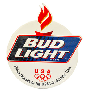 Vintage 1996 Atlanta Olympics Bud Light Metal Sign