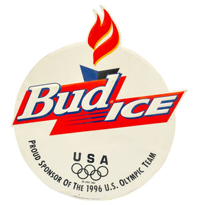 Vintage 1996 Atlanta Olympics Bud Ice Metal Sign