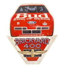 Vintage Bud King of Beers Brickyard 400 Metal Sign
