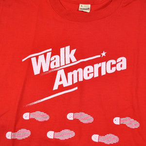 Vintage Walk America 80s Screen Stars Shirt Size Medium