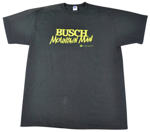 Vintage Busch 1992 Mountain Man Shirt Size X-Large
