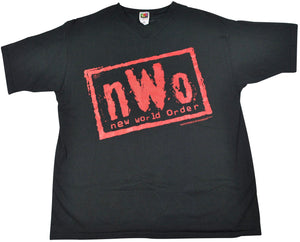 Vintage NWO New World Order 1998 V-neck Wrestling Shirt Size X-Large