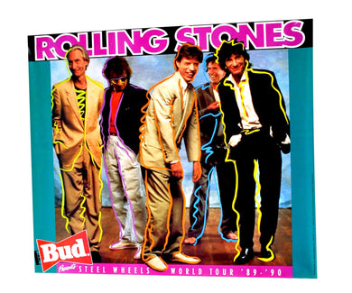 Vintage The Rolling Stones 1989 Budweiser Tour Poster