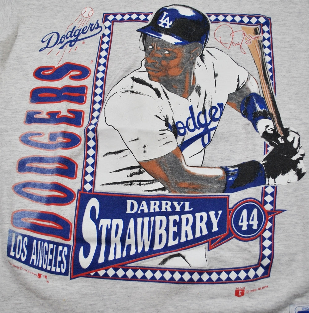 classic fit e35d2 f8725 Vintage Los Angeles Dodgers Darryl Strawberry Shirt Size Small