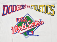 Vintage 1988 World Series Los Angeles Dodgers Oakland Athletics Shirt Size Small