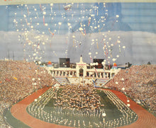 Vintage 1984 Los Angeles Olympics Framed Glass Picture