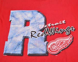 Vintage Detroit Red Wings Shirt Size Large