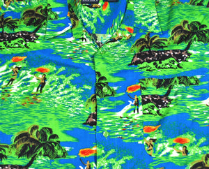Vintage Hawaiian Button Shirt Size 3X-Large
