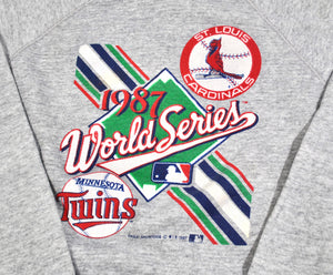 Vintage Minnesota Twins St. Louis Cardinals 1987 World Series Sweatshirt Size Medium