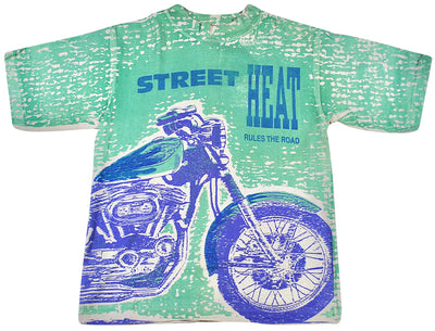 Vintage Street Heat All Over Print Shirt Size Youth Large