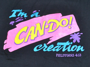 Vintage I'm A Can-Do! Creation Philippians 4:13 Shirt Size Large