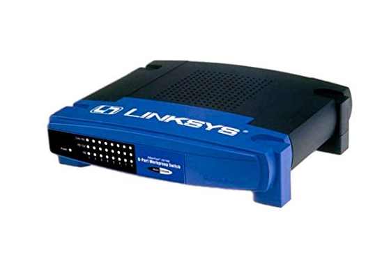Linksys EtherFast 10/100 8-Port Workgroup Switch EZXS88W - w/ Power adapter