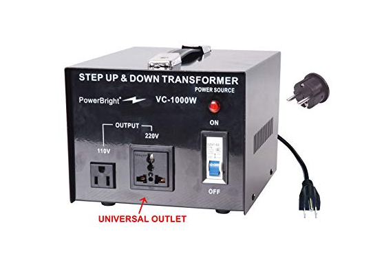 Power Bright Step UP and Down VC-1000W Transformer