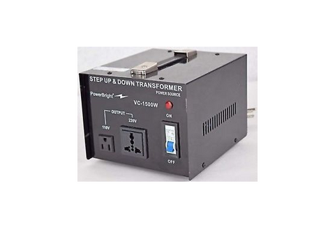 Power Bright Step UP and Down VC-1500W Transformer