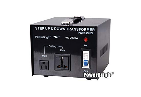Power Bright Step UP and Down VC-2000W Transformer