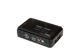 StarTech.com SV211KUSB 2-Port USB KVM Switch Kit with Audio and Cables (Black)