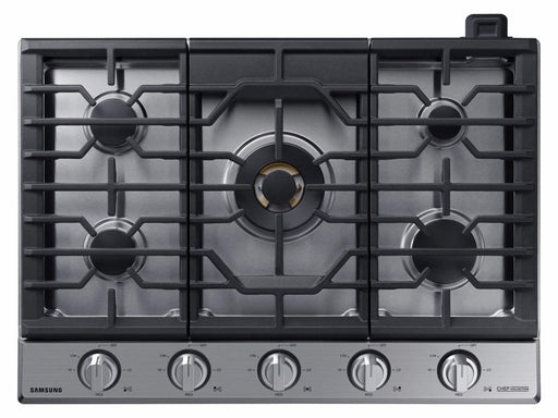 "Samsung 36"" Gas Chef Collection Cooktop with 22K BTU Dual Power Burner"
