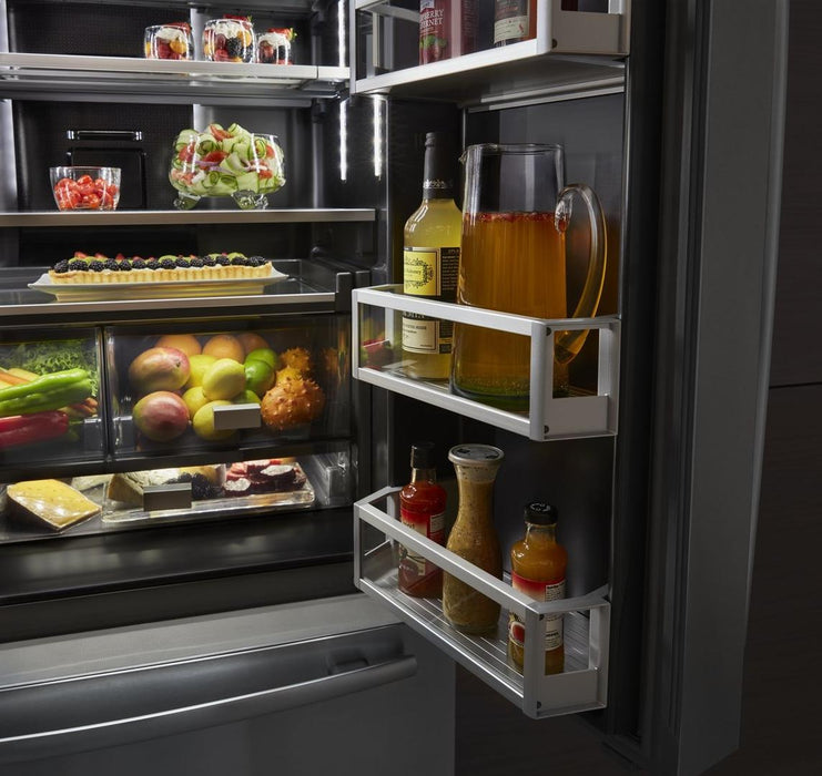 "Jenn-Air JFFCC72EFS 72"" Counter-Depth French Door Refrigerator with Obsidian Interior - Euro Style Stainless Steel - Refrigerator - Jenn-Air - Topchoice Electronics"