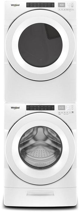 Whirlpool WGD560LHW 7.4 Cube Feet Front Load Long Vent Gas Dryer With Intuitive Controls In White