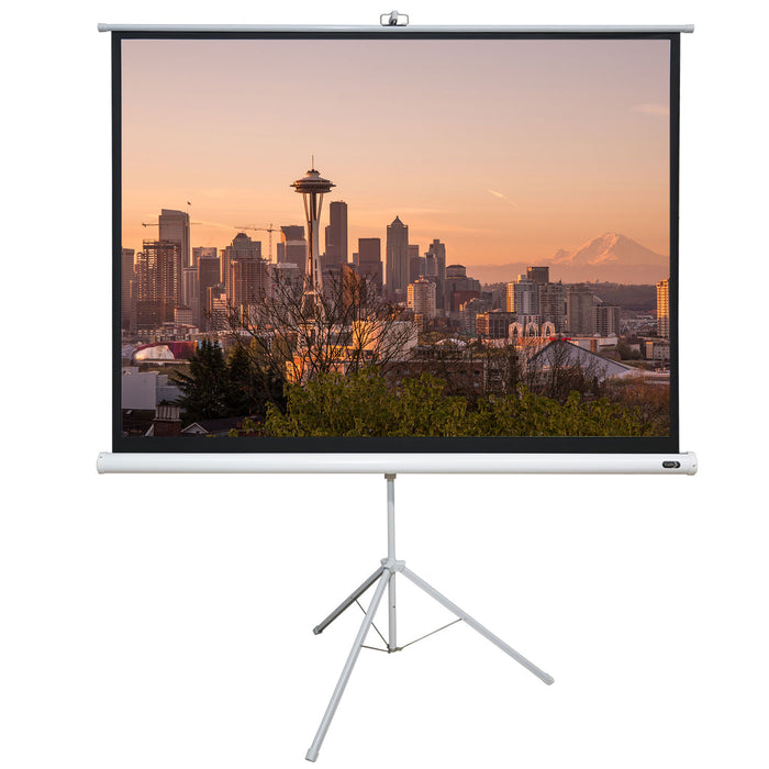 "EluneVision 96"" x 96"" Portable Tripod Projector Screen EV-TR-96x96-1.2-1:1"