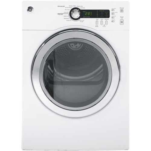 GE PCVH480EKWW 4 Cu. Ft. Electric Dryer - White - Dryer - GE - Topchoice Electronics