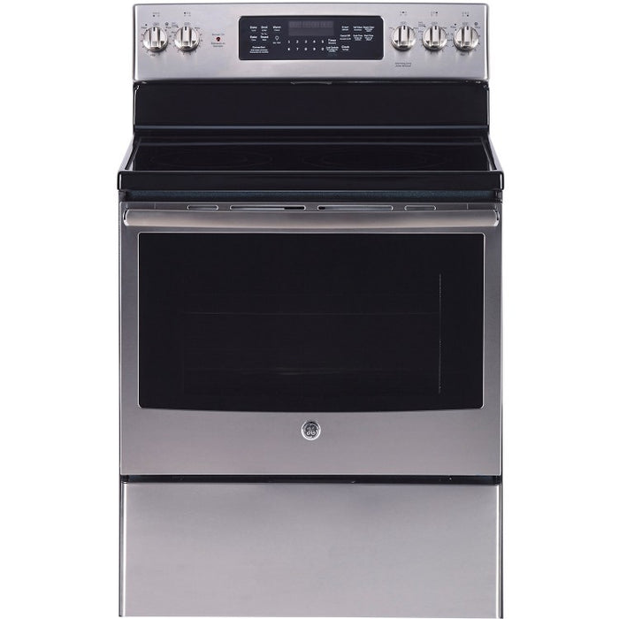 GE 30-Inch 5.0 cu. ft. Free Standing Electric Self Cleaning Convection Range - Range - GE - Topchoice Electronics