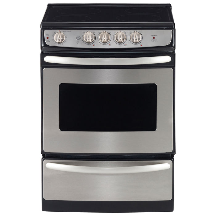 "GE JCAS445SVSS 24"" SLIDE-IN ELECTRIC STANDARD CLEAN RANGE - Stainless Steel - Range - GE - Topchoice Electronics"