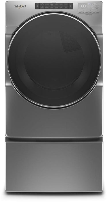 Whirlpool WGD6620HC 7.4 Cube Feet Front Load Gas Dryer with Steam Cycles In Chrome Shadow