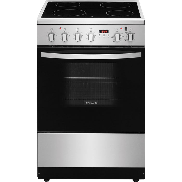 "Frigidaire CFEF2422RS 24"" 1.9 Cu. Ft. Freestanding 4-Element Smooth Top Electric Range - Stainless Steel - Range - Frigidaire - Topchoice Electronics"