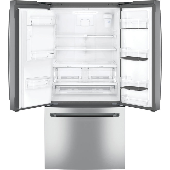 GE CAFÉ CFE24SSKSS 23.8 Cu. Ft. French Door Refrigerator - Stainless Steel - Refrigerator - GE CAFE - Topchoice Electronics