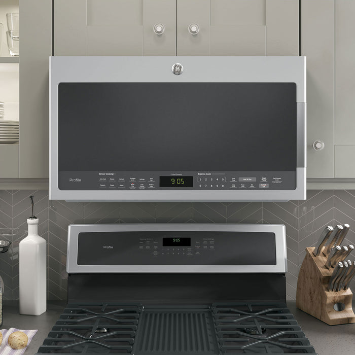 GE PROFILE 2.1 CU FT SPACEMAKER OVER THE RANGE MICROWAVE OVEN - Microwaves - GE Profile - Topchoice Electronics