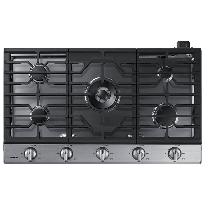 Samsung NA36N6555TS/AA 36 Inch 5-Burner Gas Cooktop in Stainless Steel