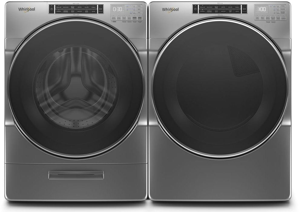Whirlpool WGD8620HC 27- Inch Whirlpool 7.4 Cube Feet Front Load Gas Dryer With Steam Refresh Cycle And Intuitive Controls In Chrome Shadow