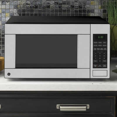 GE JES1140STC 1.1 CUFT COUNTERTOP MICROWAVE OVEN - Stainless Steel - Microwaves - GE - Topchoice Electronics