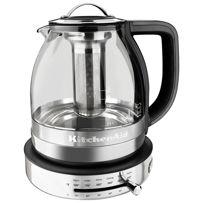 KitchenAid KEK1322SS 1.5 L Glass Tea Kettle - Kettles - KitchenAid - Topchoice Electronics