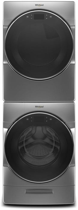 Whirlpool WGD9620HC 7.4 Cube Feet Smart Front Load Gas Dryer In Chrome Shadow
