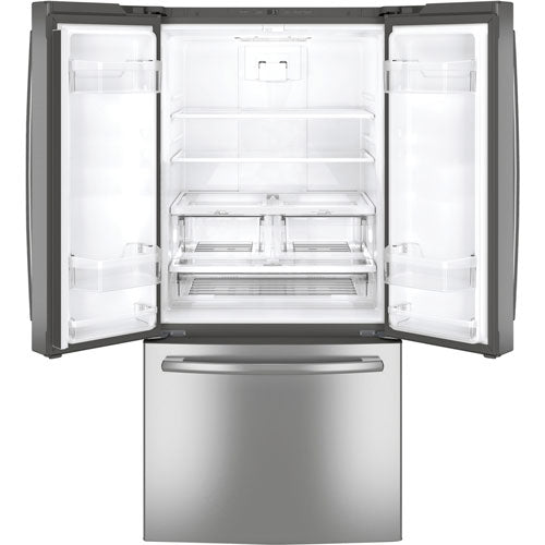 "GE 33"" 24.8 Cu. Ft. French Door Refrigerator with LED Lighting - Refrigerator - GE - Topchoice Electronics"