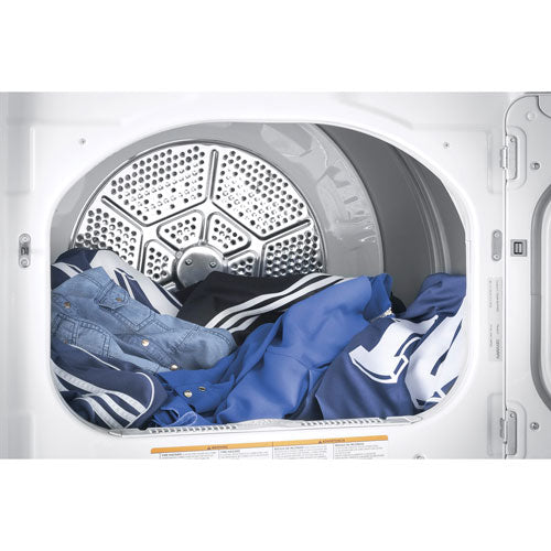 GE GTD75ECMLWS 7.4 Cu. Ft. Electric Steam Dryer - White - Dryer - GE - Topchoice Electronics