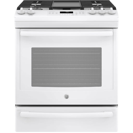 "GE 30"" 5.6 Cu. Ft. Self-Clean Convection 5-Burner Slide-In Gas Range - Range - GE - Topchoice Electronics"