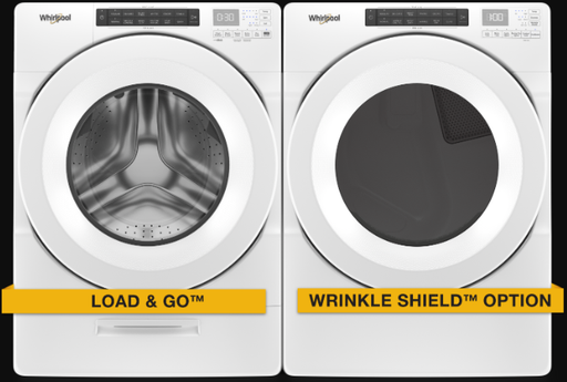 Whirlpool 5.2 cu.ft Front Load Washer with 7.4 cu.ft Front Load Electric Dryer Laundry Pair in White