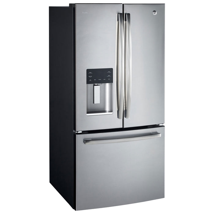 GE PROFILE 23.8 CU.FT. FRENCH DOOR BOTTOM-MOUNT, WITH SPACE SAVING ICEMAKER - Refrigerator - GE Profile - Topchoice Electronics