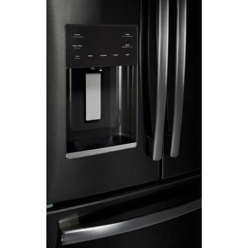 GE Profile PYE18HBLKTS 17.5 Cu. Ft. Counter Depth French-Door Ice & Water Refrigerator - Refrigerator - GE Profile - Topchoice Electronics